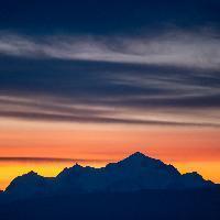 Mont Blanc, ergens in den ochtend.
